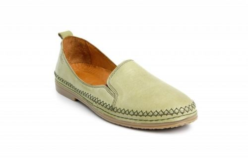 Batz EMMA leather loafers khaki